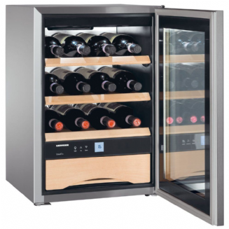 LIEBHERR WKES653 Freestanding Grand Cru Single Zone Wine Chiller in Stainless Steel, 61 cm